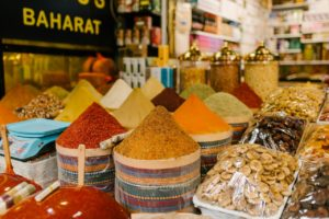 Spices in a marketplace
