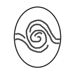 a stylized fingerprint whorl